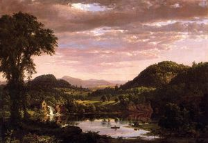 Frederic Edwin Church - New England Landscape (also known as Evening after a Storm)