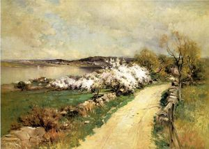 George Henry Smillie - New England Landscape in Spring