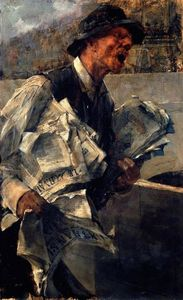 Giovanni Boldini - Newspaperman in Paris (also known as The newspaper)