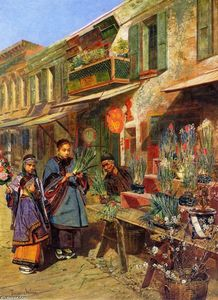 Theodore Wores - New Year,s Day in San Francisco,s Chinatown