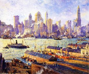 Colin Campbell Cooper - New York from Brooklyn