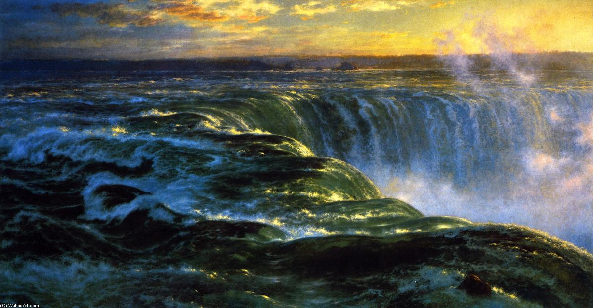 Niagara, Oil On Canvas by Louis Remy Mignot (1831-1870, United States)