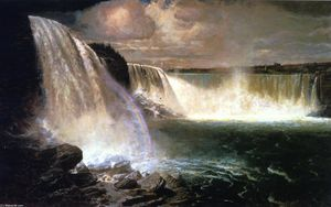 Gilbert Munger - Niagara Falls Showing the Canadian and American Views