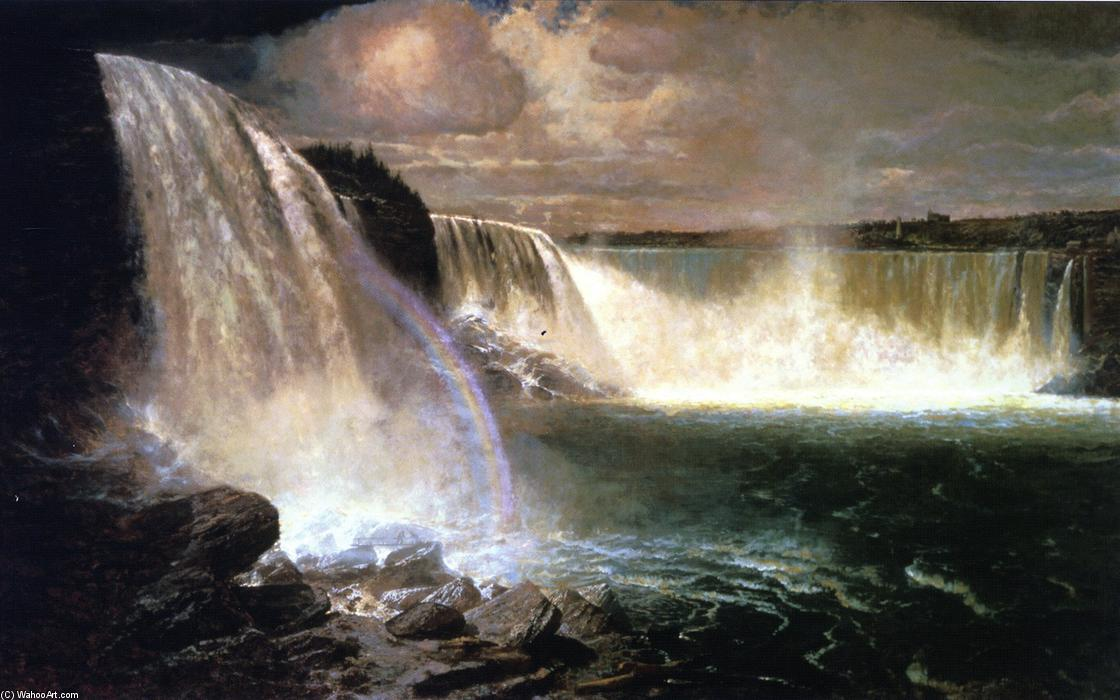 Niagara Falls Showing the Canadian and American Views, 1903 by Gilbert Munger (1837-1903, United States) | Oil Painting | WahooArt.com