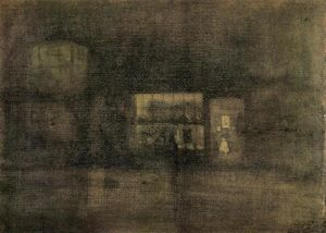 James Abbott Mcneill Whistler - Nocturne: Black and Gold - The Rag Shop, Chelsea