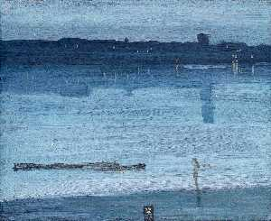 James Abbott Mcneill Whistler - Nocturne: Blue and Silver - Chelsea