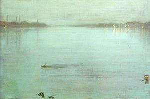 James Abbott Mcneill Whistler - Nocturne: Blue and Silver - Cremorne Lights