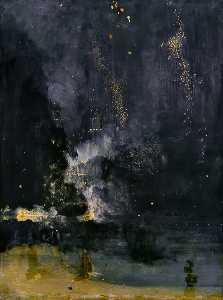 James Abbott Mcneill Whistler - Nocturne in Black and Gold: The Falling Rocket