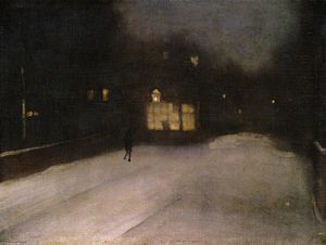 James Abbott Mcneill Whistler - Nocturne in Grey and Gold: Chelsea Snow