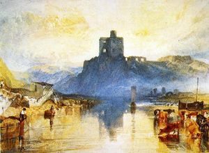 William Turner - Norham Castle, on the Tweed (for Rivers of England'')''