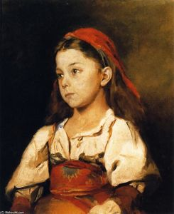 William Merritt Chase - Normannisches Madchen (also known as Girl in the National Dress of Normandy)