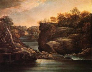John Trumbull - Norwich Falls (also known as The Falls of the Yantic at Norwich)