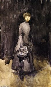 James Abbott Mcneill Whistler - Note in Black and Grey