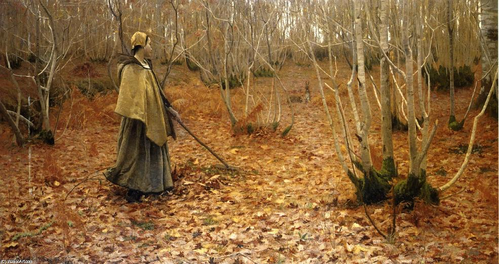 Novembre, 1881 by Lowell Birge Harrison (1854-1929, United States) | Famous Paintings Reproductions | WahooArt.com