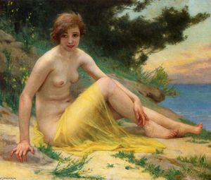 Guillaume Seignac - Nude at the Beach (also known as On the Shore)