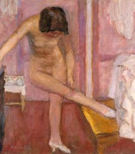 Pierre Bonnard - Nude Bending Down
