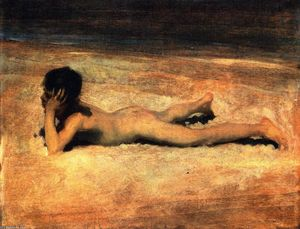 John Singer Sargent - A Nude Boy on a Beach (also known as Boy Lying on a Beach)