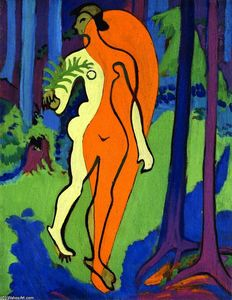 Ernst Ludwig Kirchner - Nude in Orange and Yellow