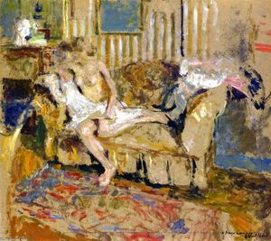 Jean Edouard Vuillard - Nude in the Striped Salon