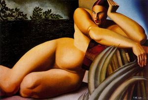 Tamara De Lempicka - Nude on a Terrace