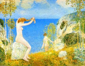 Frederick Childe Hassam - Nudes at the Cove