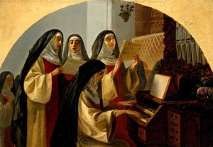 Karl Pavlovich Brulloff - Nuns of the Nunnery of Saint Heart in Rome