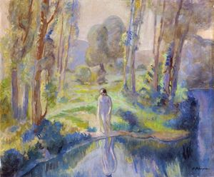 Henri Lebasque - Nymph by the lake