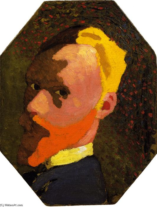 Octagonal Self-Portrait, 1890 by Jean Edouard Vuillard (1868-1940, France) | Museum Quality Reproductions | WahooArt.com