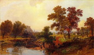 Jasper Francis Cropsey - An October Day