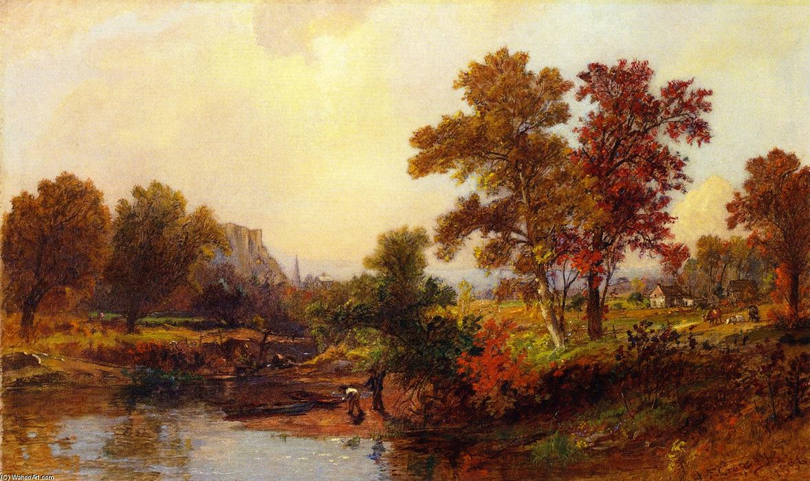 An October Day, 1886 by Jasper Francis Cropsey (1823-1900, United States) | Art Reproduction | WahooArt.com