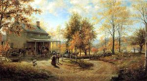 Edward Lamson Henry - An October Day (also known as Cragsmoor Post Office)