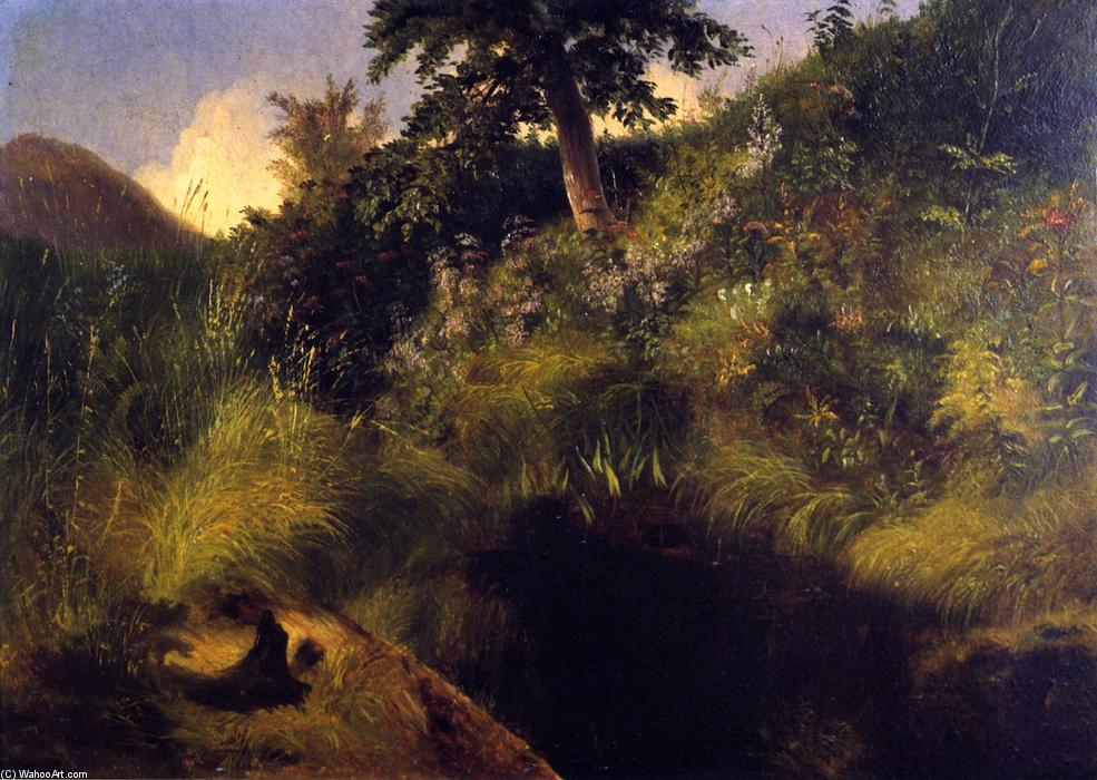 The Old Bog Hole, Painting by Louis Remy Mignot (1831-1870, United States)