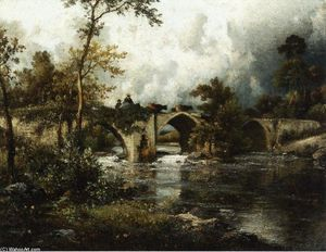 Jules Dupré - The Old Bridge