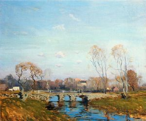 Arthur Clifton Goodwin - The Old Bridge at Bridgewater, Massachusetts