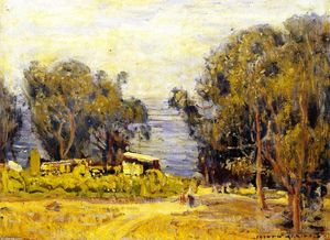 Joseph Kleitsch - Old Laguna (also known as Foot of Anita Street)
