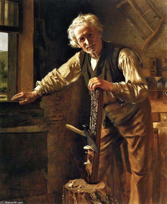 The Old Mechanic, 1888 by John George Brown (1831-1913, United Kingdom) | Famous Paintings Reproductions | WahooArt.com