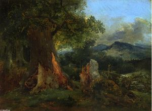 Théodore Rousseau (Pierre Etienne Théodore Rousseau) - Old Oak Tree and Rotting Trunk