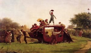Jonathan Eastman Johnson - The Old Stage Coach