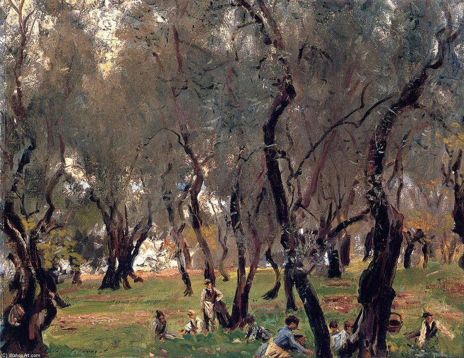 The Olive Grove, Oil On Canvas by John Singer Sargent (1856-1925, Italy)