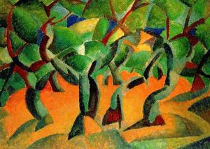 Leo Gestel - Olive Grove (also known as Cubist Orchard)