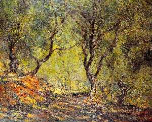 Claude Monet - The Olive Tree Wood in the Moreno Garden