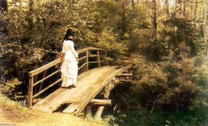 Ilya Yefimovich Repin - On a Bridge in Abramtsevo.