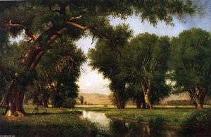 Thomas Worthington Whittredge - On the Cache la Poudre River, Colorado