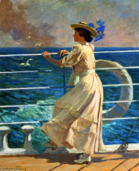 On the Deck by Abbott Fuller Graves (1859-1936, United States) | Painting Copy | WahooArt.com