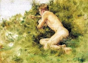 Henry Scott Tuke - On the Dunes