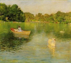 William Merritt Chase - On the Lake, Central Park