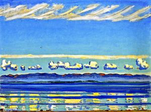 Ferdinand Hodler - On Lake Geneva (also known as Landscape with Rhythmic Shapes)
