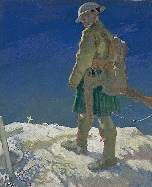 An Onlooker in France, 1921 by William Newenham Montague Orpen (1878-1931, Ireland)