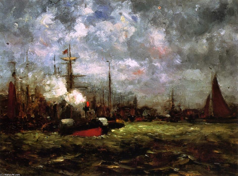On the Maas, 1880 by Dwight William Tryon (1849-1925, United States) | Painting Copy | WahooArt.com