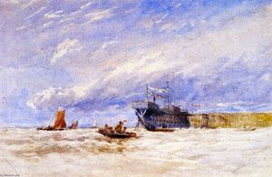 David Cox - On the Medway